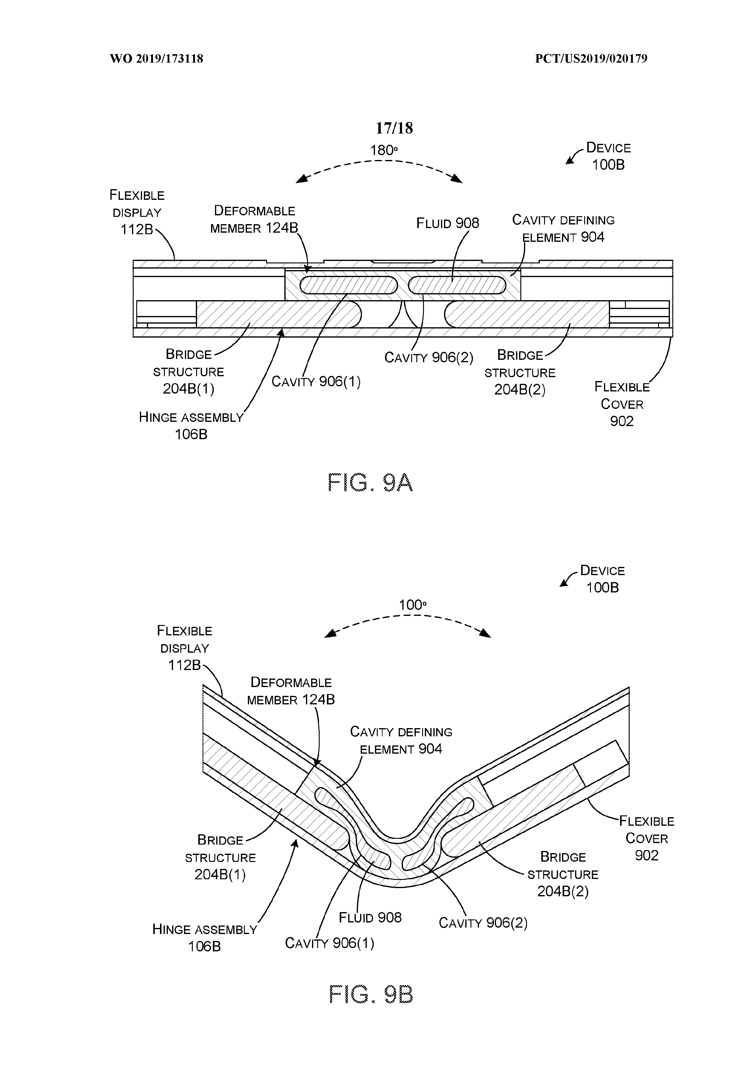 Microsoft patent device model with liquid-filled hinges